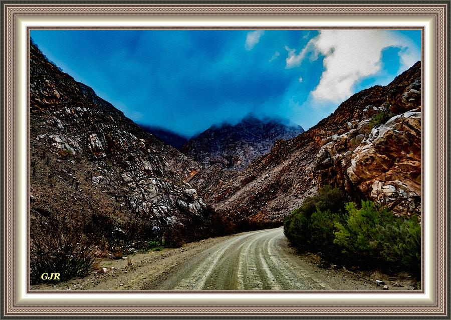 Mountain Road To Sentinalhurst L A S - With Printed Frame. Digital Art