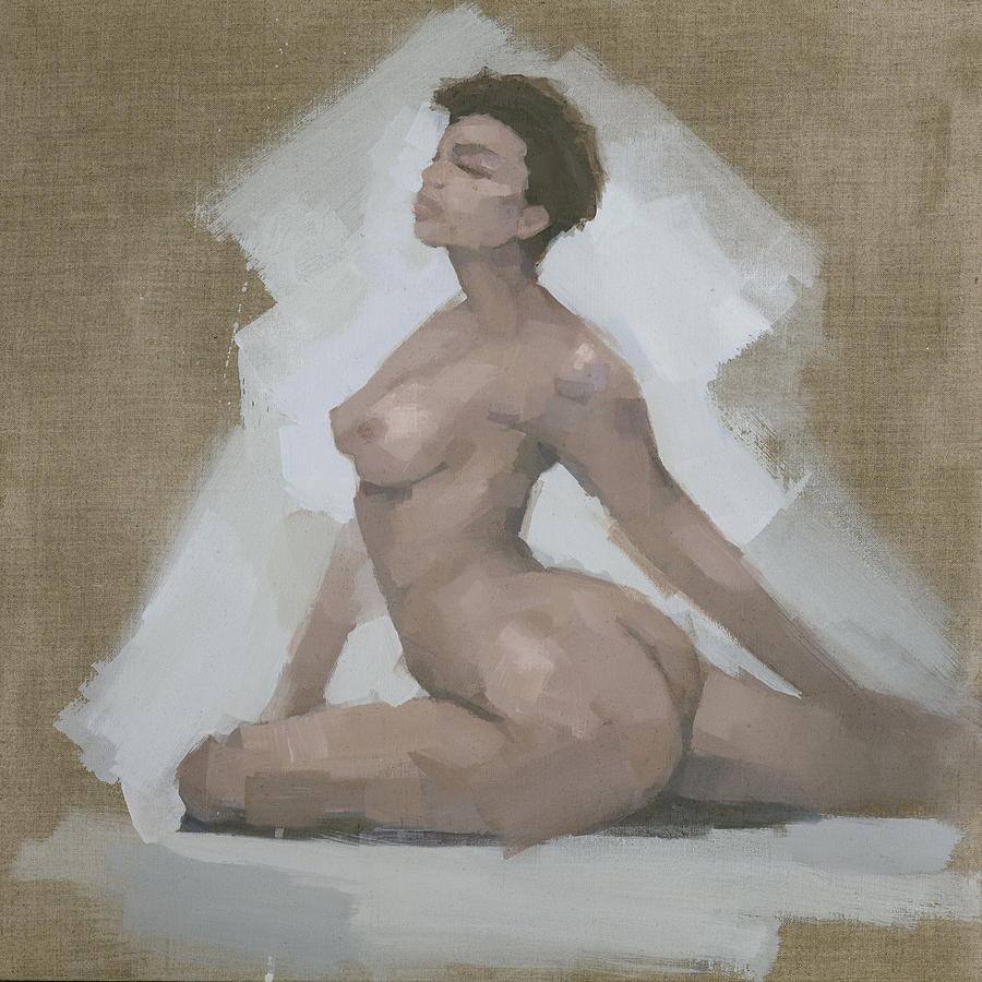 Woman Painting - Mountain by Steve Mitchell