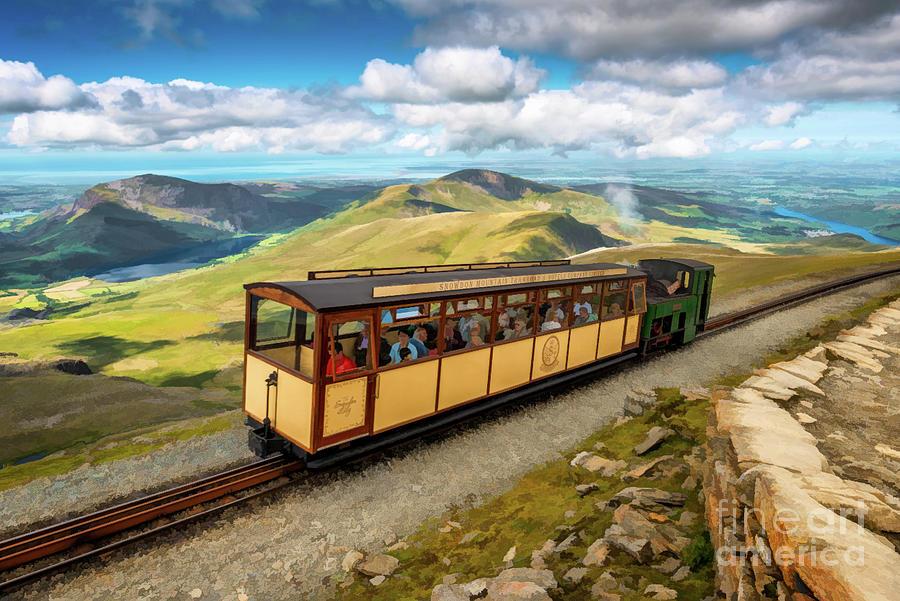 Mountain Train Snowdon Wales by Adrian Evans