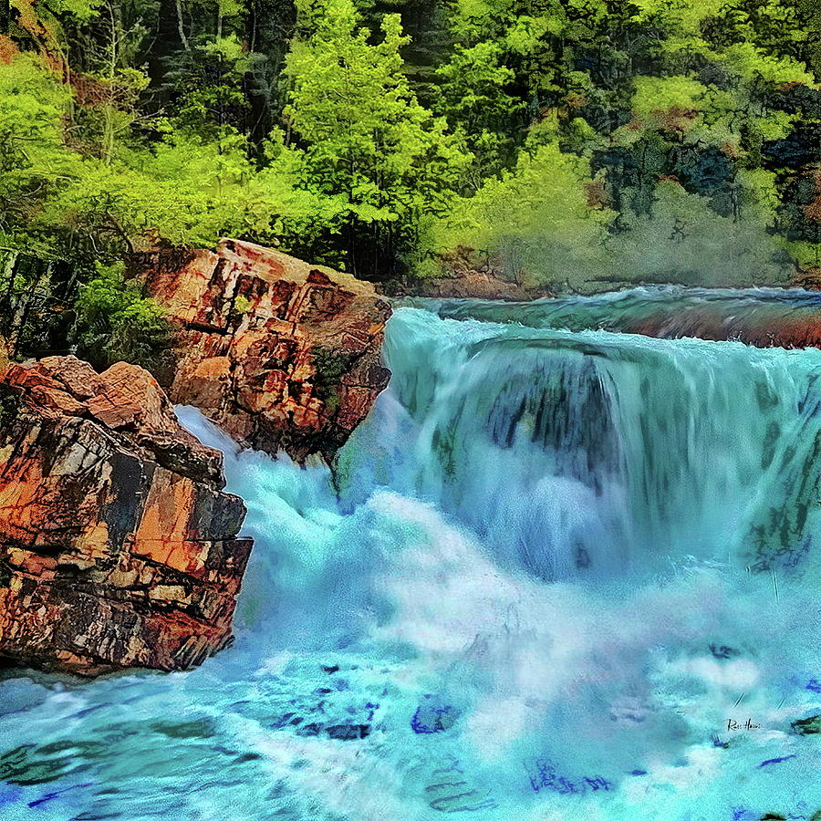 Mountain Waterfall Photograph