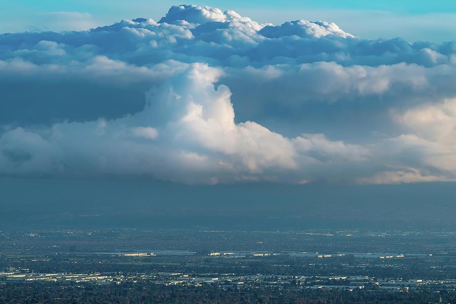 Mountainous Clouds Over Developed Plain - 2020 Photograph