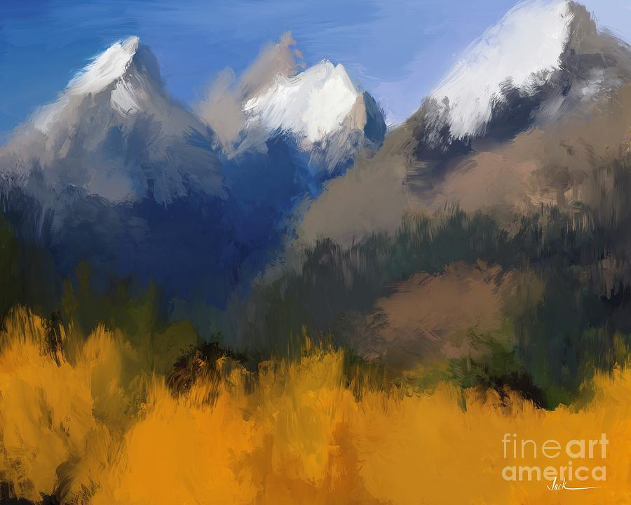 Mountains Painting - Mountains 82921 by Jack Bunds