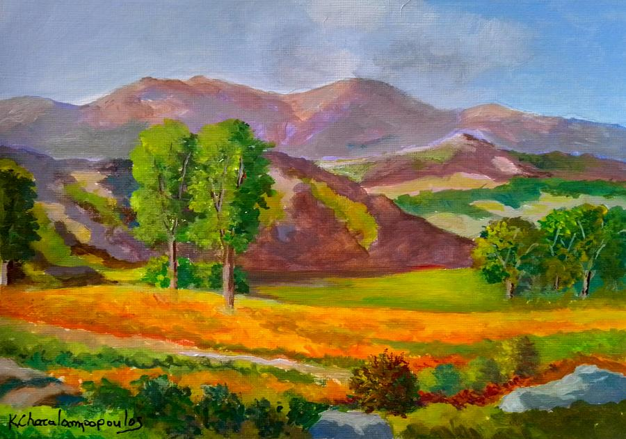 Mountains And Fields Painting