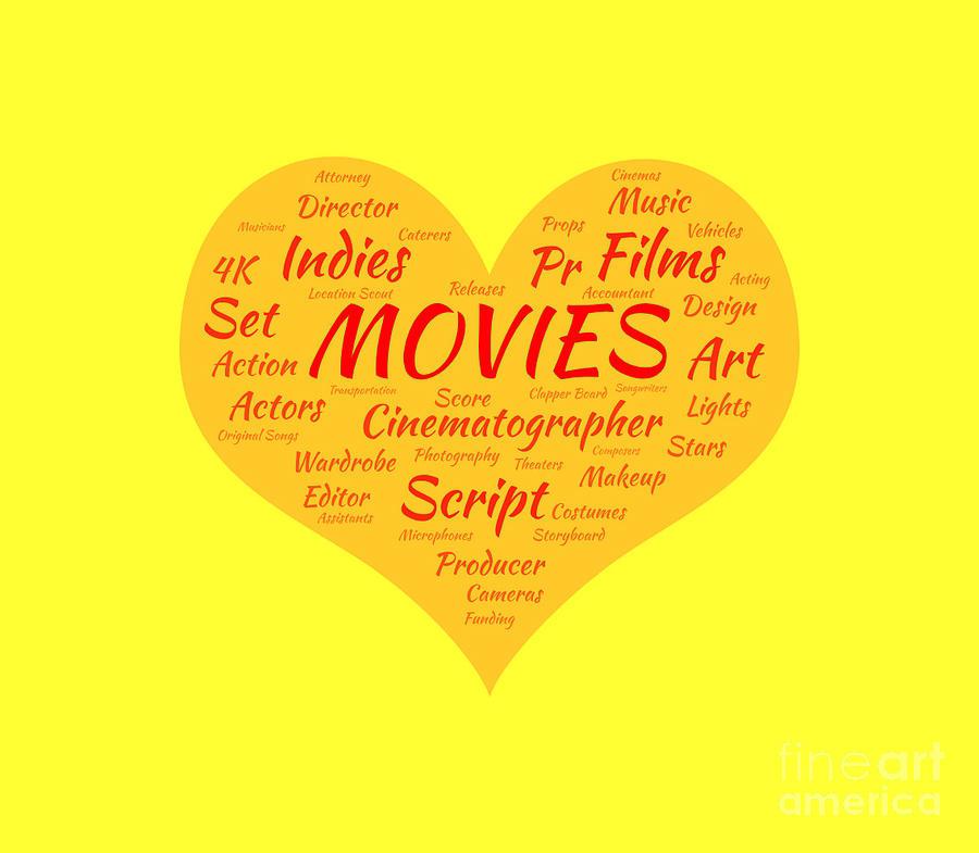 Movies Digital Art - Movie Buff by Karen Francis