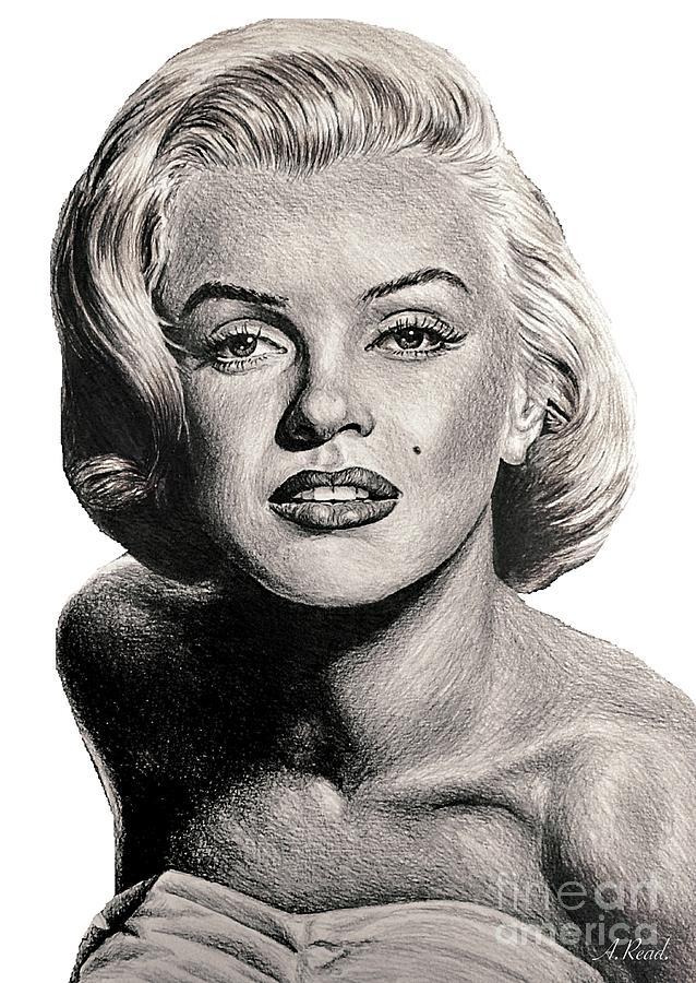 Movie Icons Marilyn Monroe Drawing