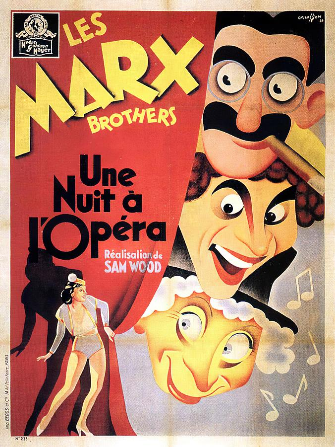 Movie Poster a Night At The Opera, Marx Brothers, 1935 Mixed Media