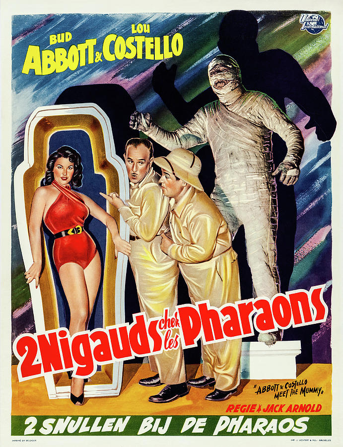 Movie Poster For abbott And Costello Meet The Mummy, 1955 Mixed Media