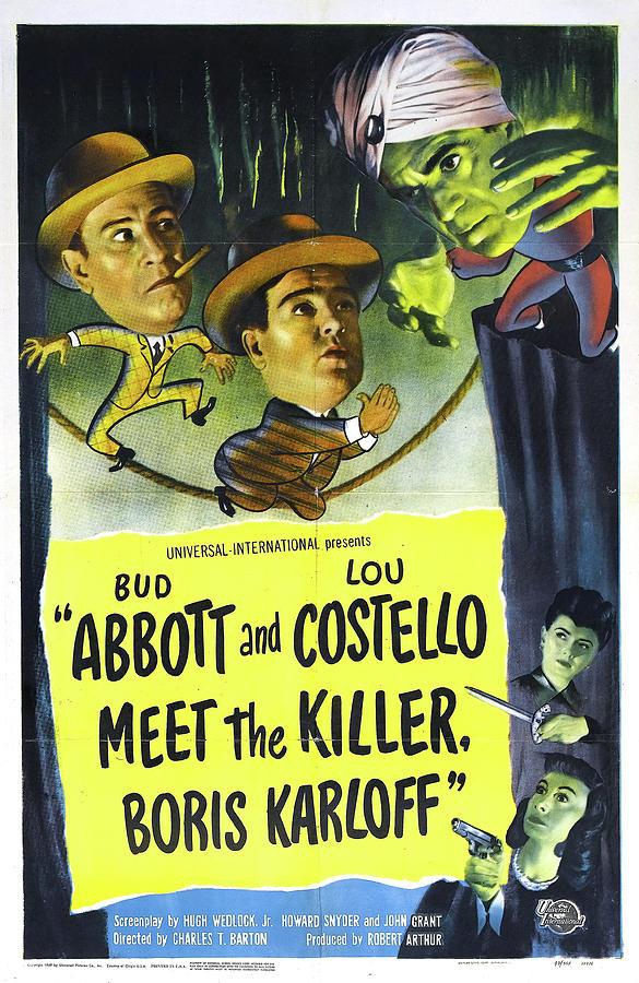 abbott And Costello Meet The Killer, Boris Karloff, 1949 Mixed Media