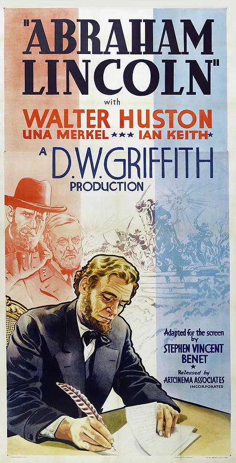 abraham Lincoln With Walter Huston, 1930 Mixed Media
