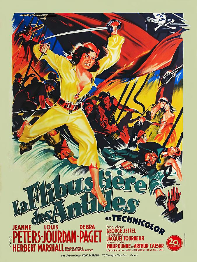 Movie Poster For anne Of The Indies, With Jeanne Peters, 1951 Mixed Media
