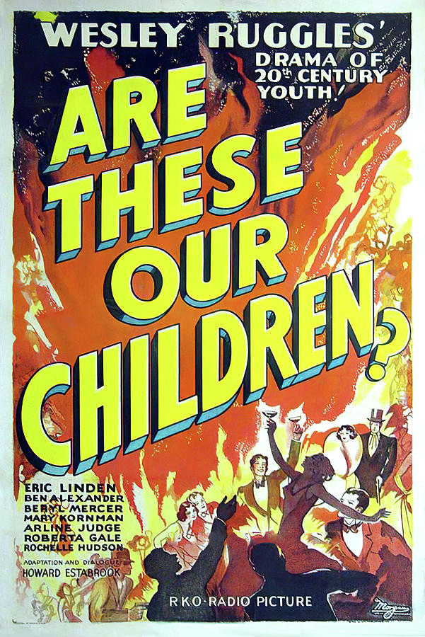 Movie Poster For are These Our Children?, 1931 Mixed Media
