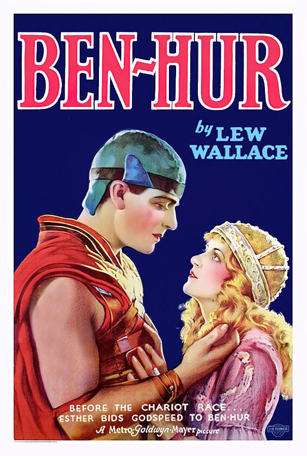 Movie Poster For ben Hur, 1925 Mixed Media