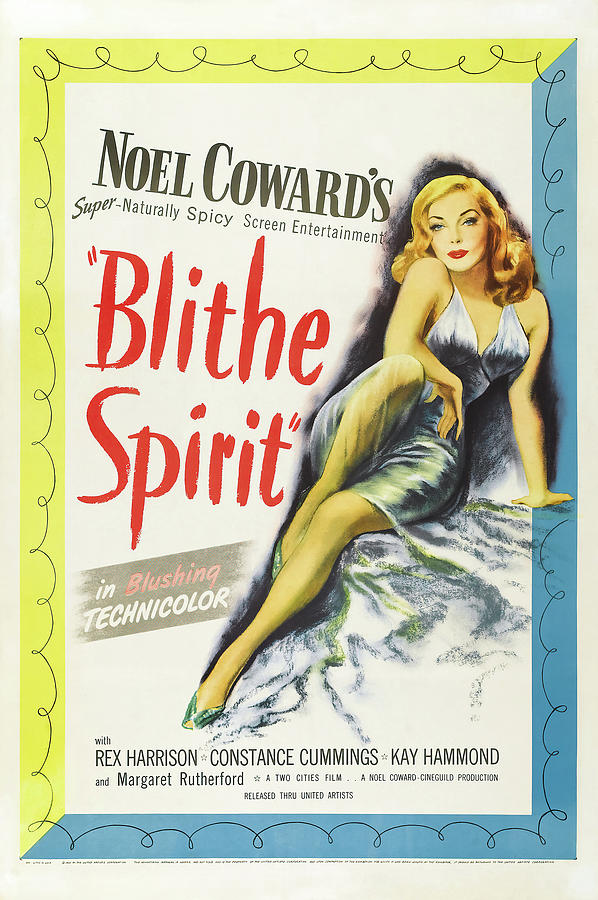Movie Poster For blithe Spirit, 1945 Mixed Media