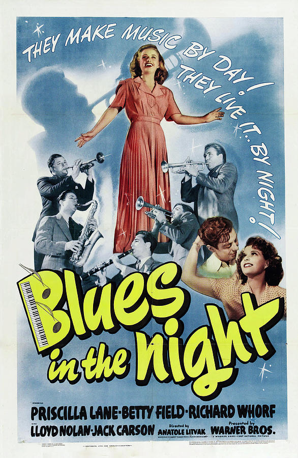 Movie Poster For blue In The Night, 1941 Mixed Media