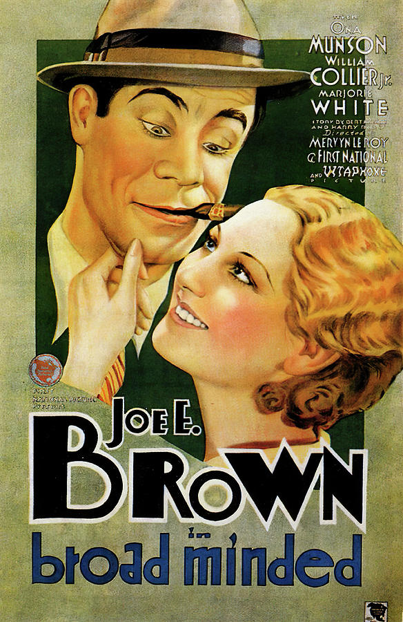 Movie Poster For broad Minded, With Joe E. Brown, 1931 Mixed Media