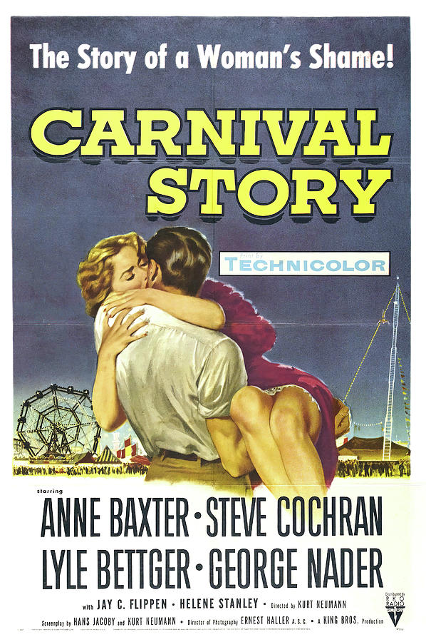 Movie Poster For carnival Story, 1954 Mixed Media
