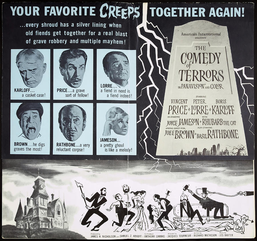 Movie Poster For comedy Of Terrors, 1964 Mixed Media
