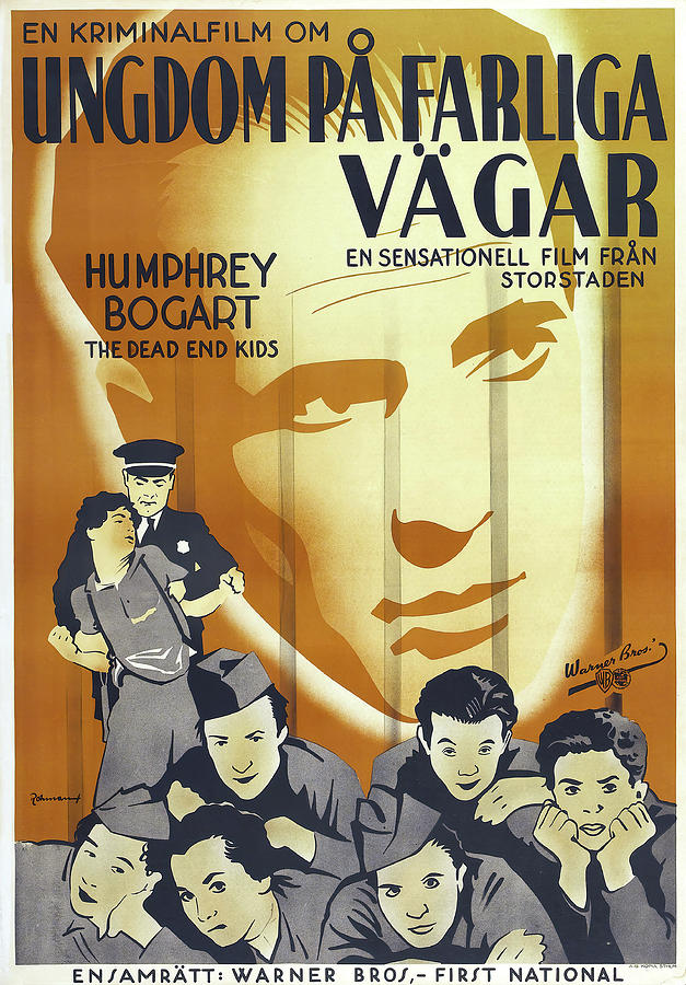 Movie Poster For crime School, With Humphrey Bogart, 1938 Mixed Media