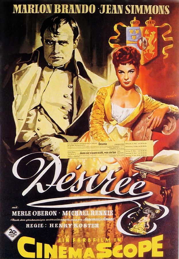 desiree 2, With Marlon Brando And Jean Simmons, 1954 Mixed Media