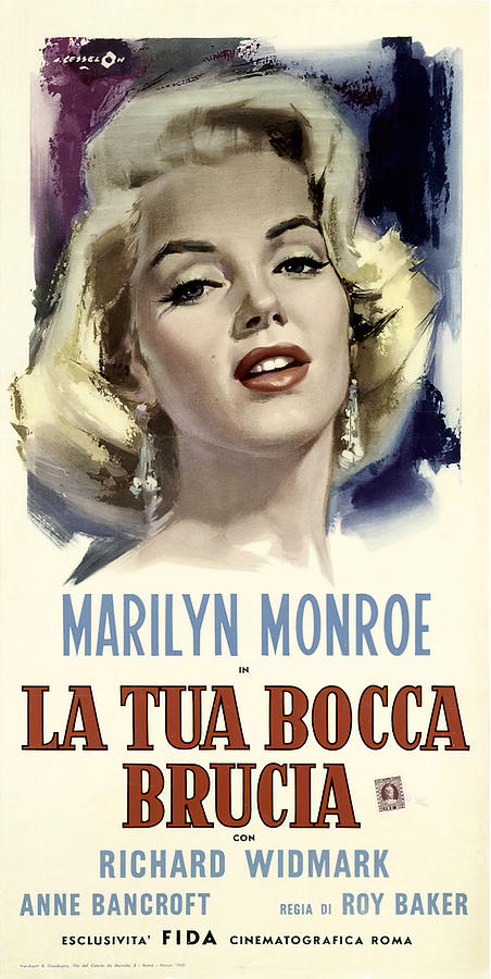 Movie Poster For dont Bother To Knock, With Marilyn Monroe, 1952 Mixed Media
