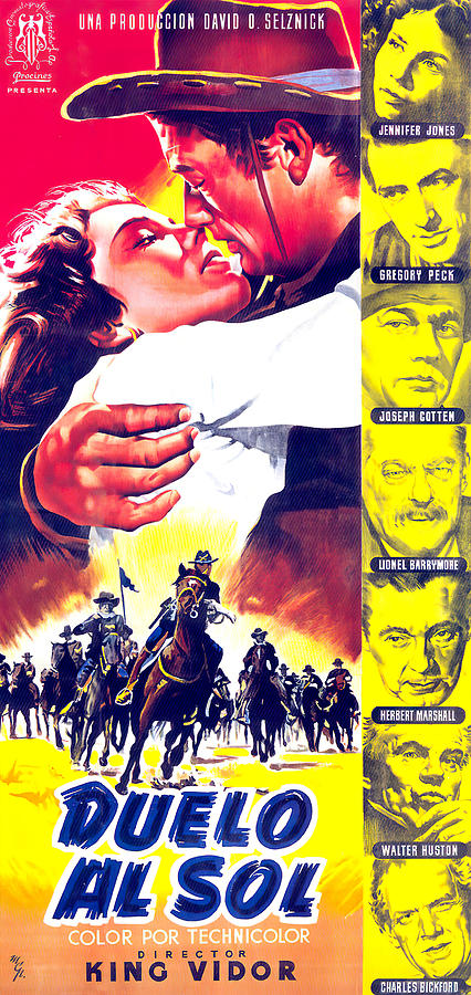 Movie Poster For duel In The Sun, With Jennifer Jones, 1947 Mixed Media