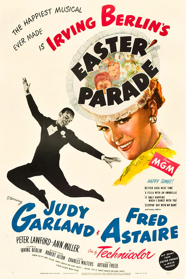 Movie Poster For easter Parade, With Judy Garland And Fred Astaire, 1948 Mixed Media