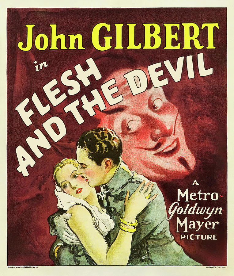 Movie Poster For flesh And The Devil, With John Gilbert And Greta Garbo, 1926 Mixed Media