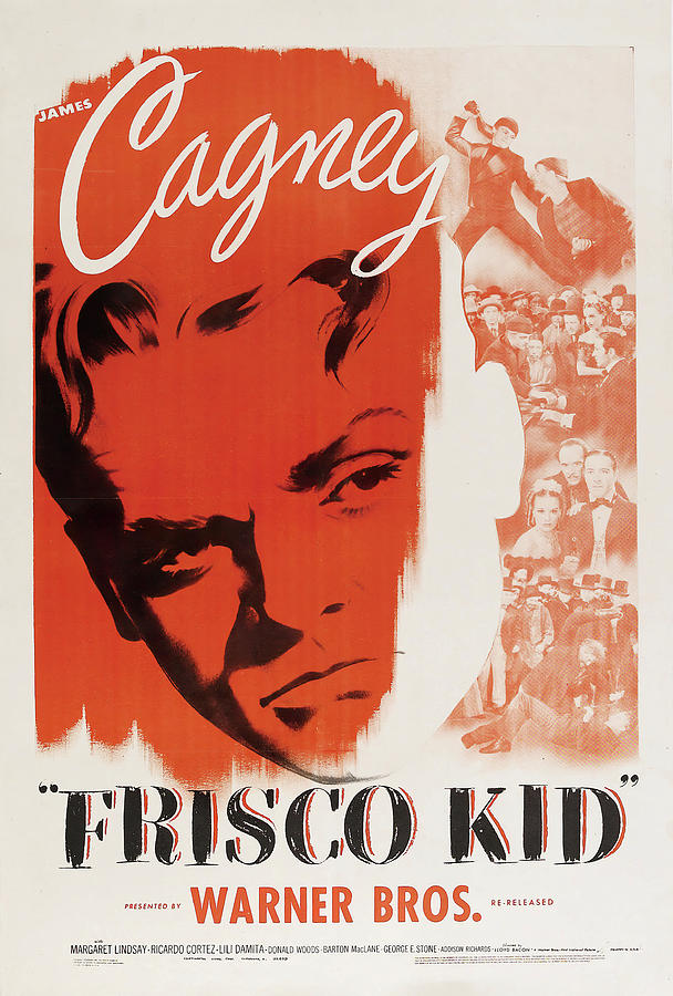 Movie Poster For frisco Kid, With James Cagney, 1935 Mixed Media