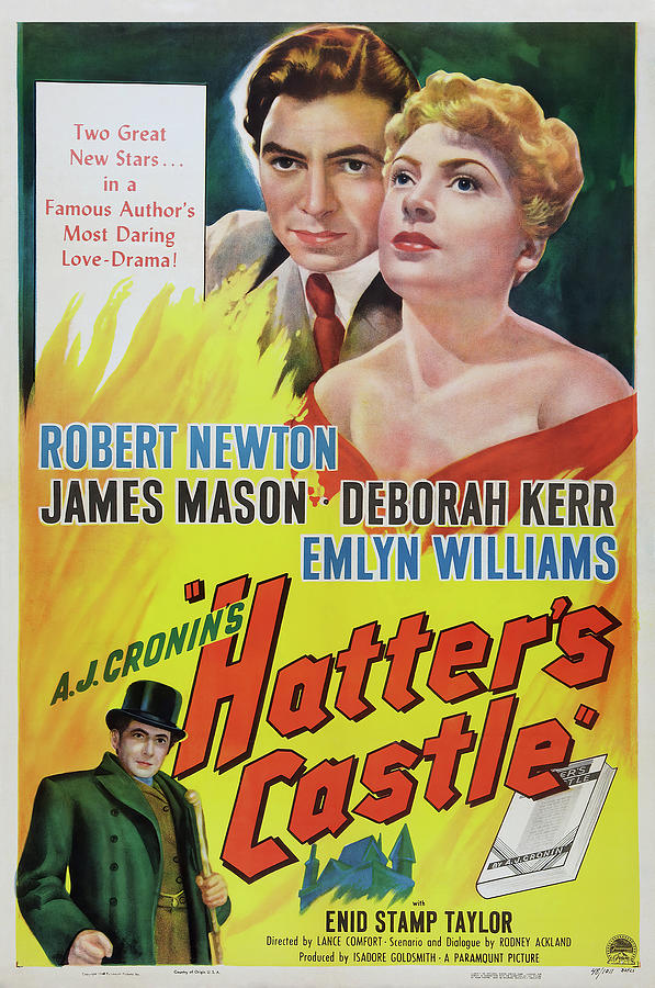 Movie Poster For hatters Castle, With James Mason, 1942 Mixed Media