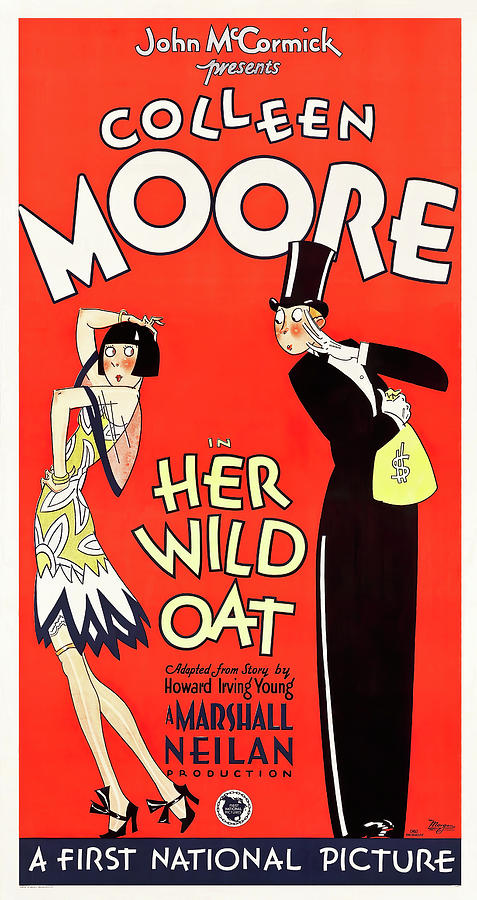 her Wild Oat, With Colleen Moore, 1927 Mixed Media