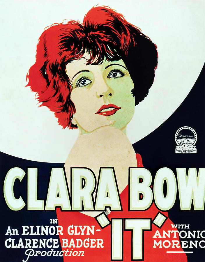 Movie Poster For it, With Clara Bow, 1927 Mixed Media