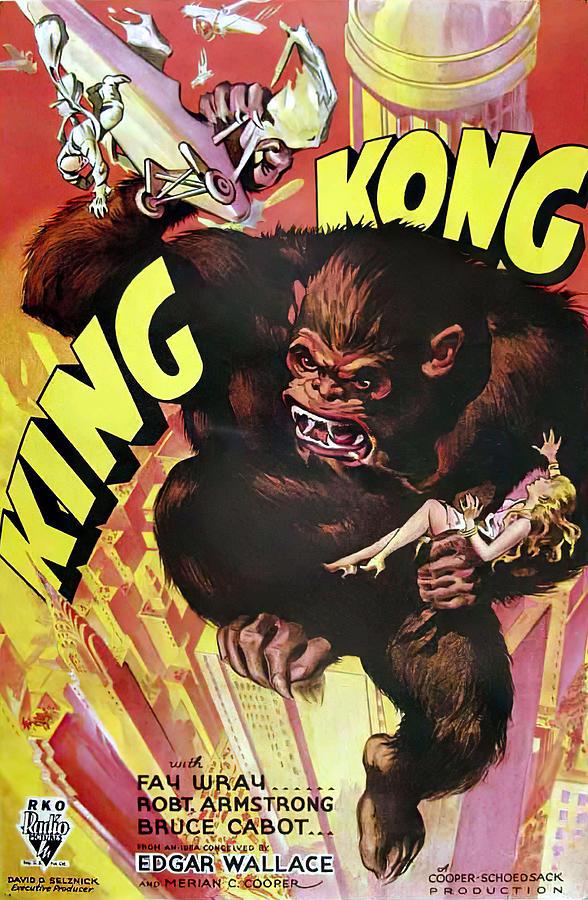 Movie Poster For king Kong, 1933 Mixed Media
