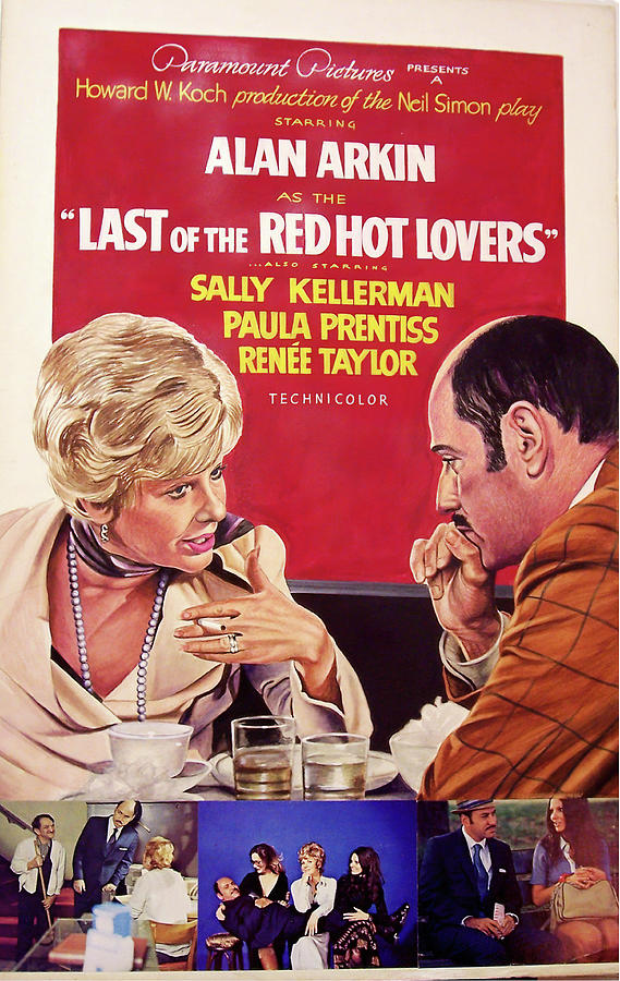 Movie Poster For last Of The Red Hot Lovers, With Alan Arkin, 1972 Mixed Media