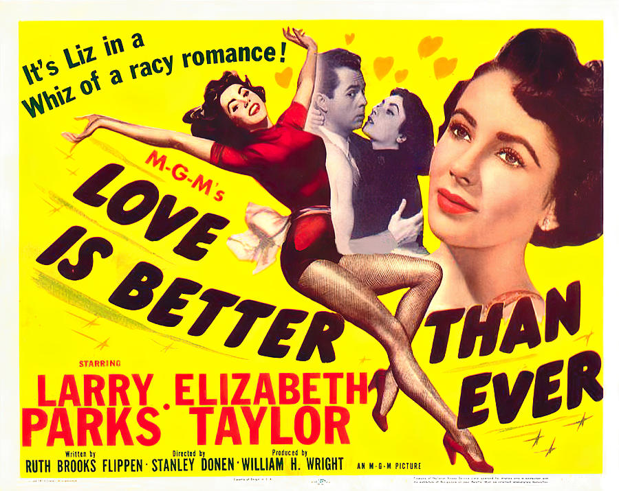 Movie Poster For love Is Better Than Ever, With Elizabeth Taylor, 1952 Mixed Media