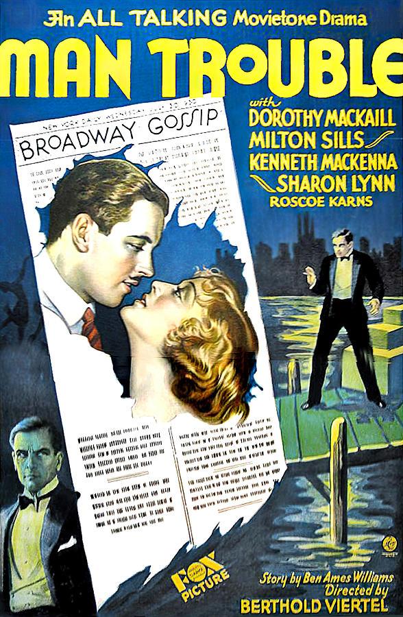 man Trouble, 1930 Mixed Media