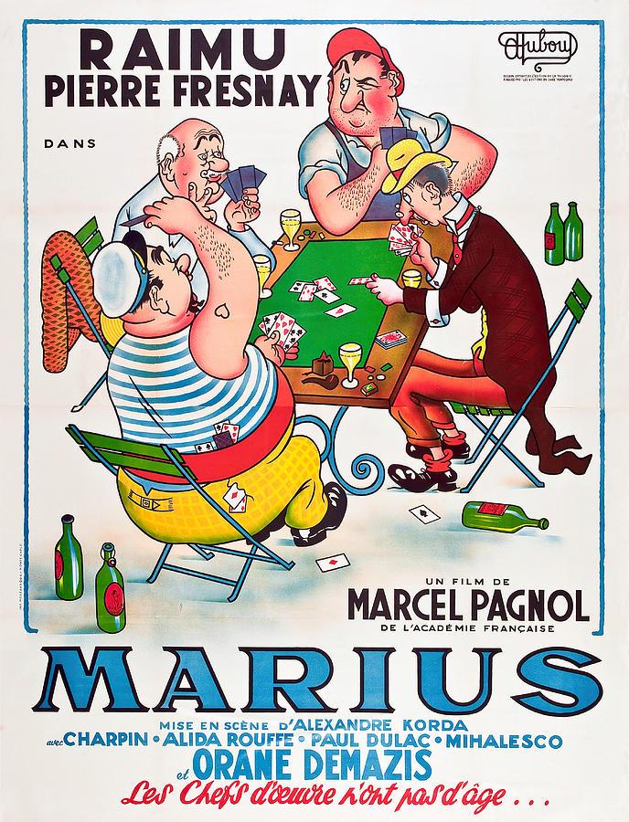 Movie Poster For marius, 1933 Mixed Media