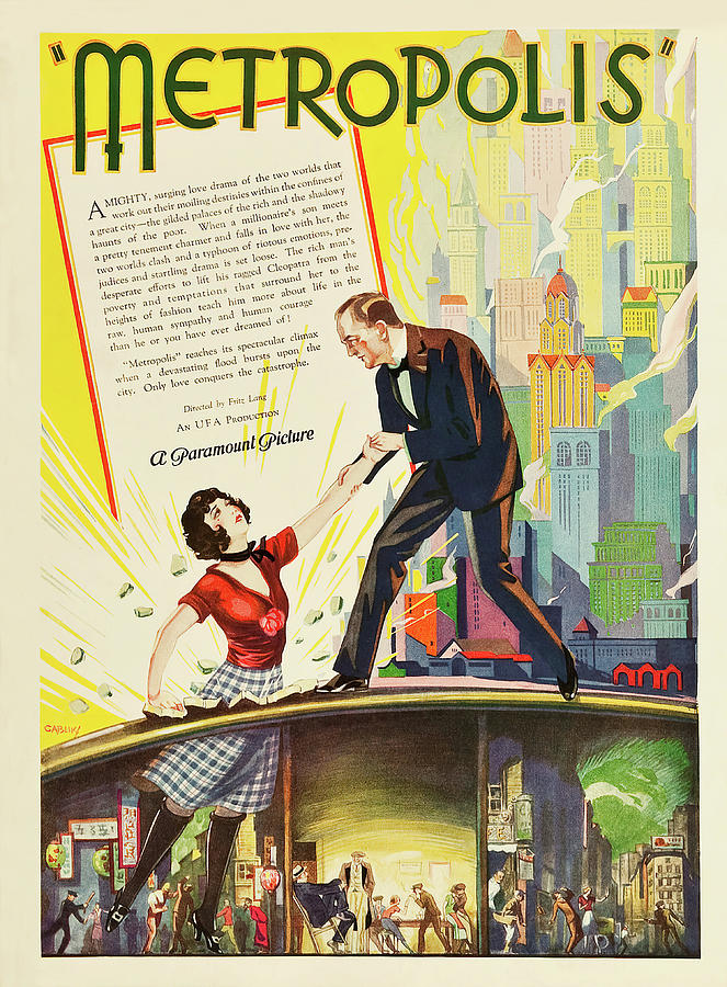 metropolis, 1927 Mixed Media
