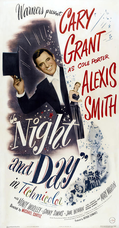Movie Poster For night And Day, With Cary Grant, 1946 Mixed Media