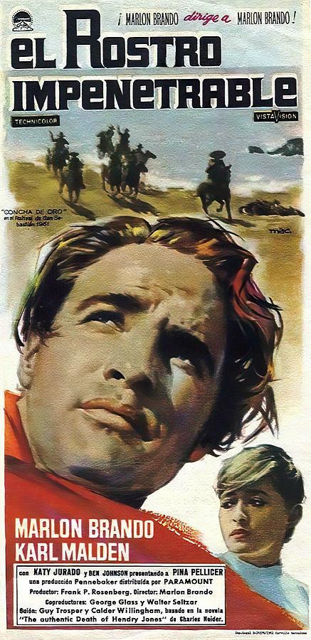 Movie Poster For one-eyed Jacks, With Marlon Brando, 1961 Mixed Media