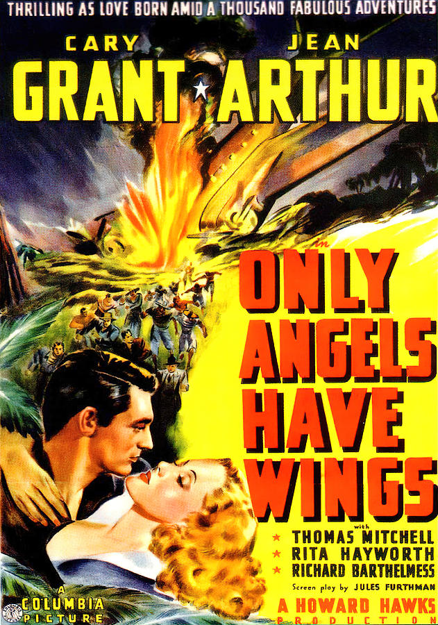 Movie Poster For only Angels Have Wings, With Cary Grant, 1939 Mixed Media