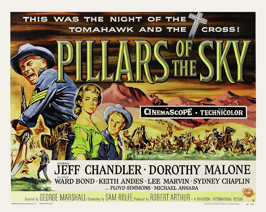 pillars Of The Sky, With Jeff Chandler, 1956 Mixed Media