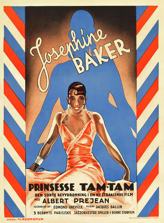 Movie Poster For princess Tam-tam, With Josephine Baker, 1935 Mixed Media