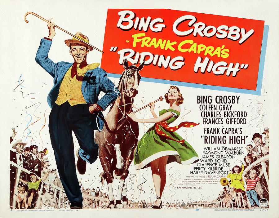 Movie Poster For riding High, With Bing Crosby, 1950 Mixed Media