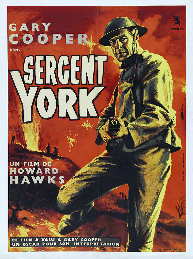 Movie Poster For sergeant York, With Gary Cooper, 1941 Mixed Media