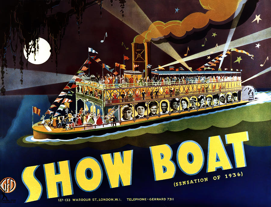 Movie Poster For show Boat, 1936 Mixed Media