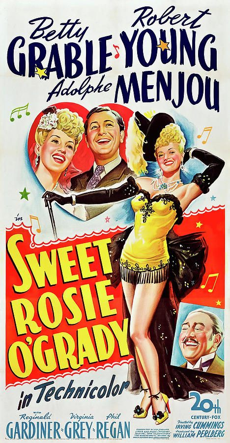 Movie Poster For sweet Rosie Ogrady, With Betty Grable, 1943 Mixed Media