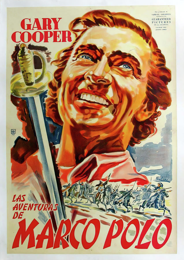Movie Poster For the Adventures Of Marco Polo, 1938 Mixed Media
