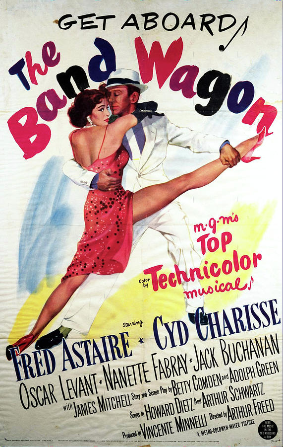 Movie Poster For the Band Wagon With Fred Astaire, 1953 Mixed Media