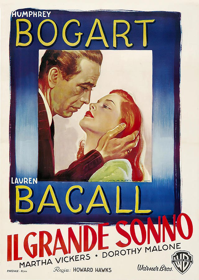 Movie Poster For the Big Sleep, With Humphrey Bogart And Lauren Bacall, 1946 Mixed Media