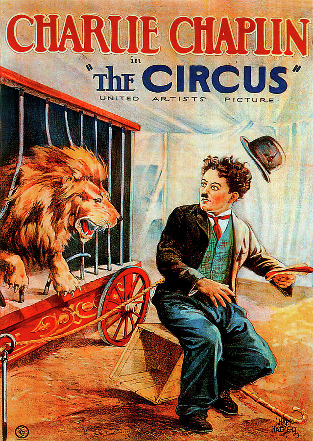 Movie Poster For the Circus, With Charlie Chaplin, 1928 Mixed Media